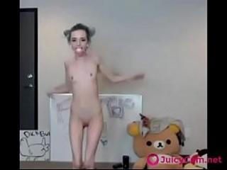 Skinny Dutiful Girl Gets Ugly Before b before Webcam -..