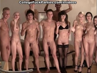 College  naughty party with group sex